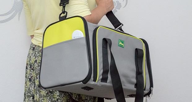 HUNTER SYDNEY Tragetasche für Hunde und Katzen im Test - zum leichten transportieren, dient ein Schultertrageriemen