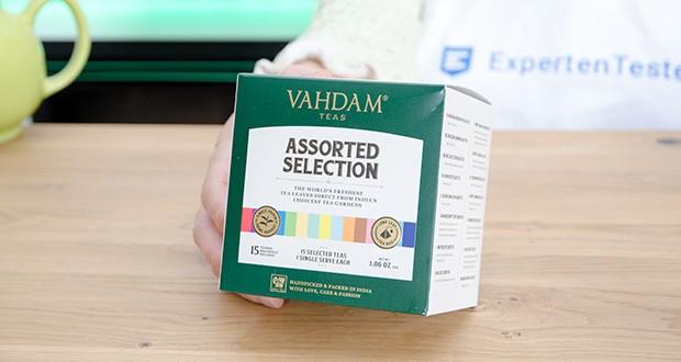 VAHDAM 15 Teesorten Probierset im Test - ein perfektes Tee-Geschenkset für alle Gelegenheiten