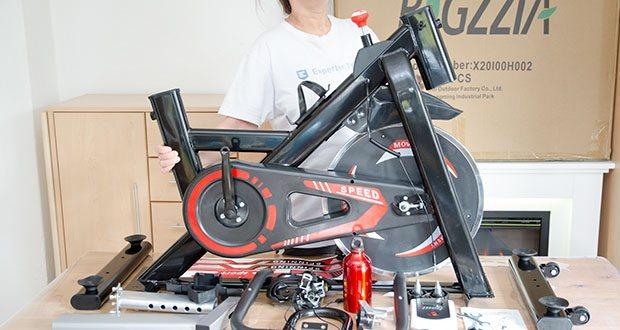 Bigzzia Profi-Heimtrainer mit LCD-Anzeige im Test - dreieckige Konstruktion der Stützstruktur, kohlenstoffreicher Stahl