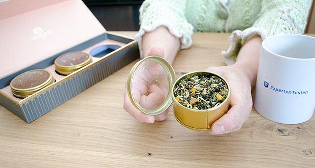 VAHDAM Sortiertes 3 Tee-Geschenkset im Test - süßer Himalaya Detox Grüntee