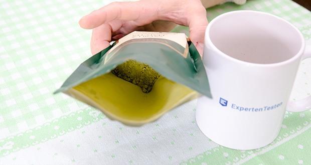 VAHDAM Vanille Matcha Grüntee Pulver im Test - Matcha ist eine feine, pulverisierte Form einer speziellen, im Schatten angebauten Sorte japanischen grünen Tees