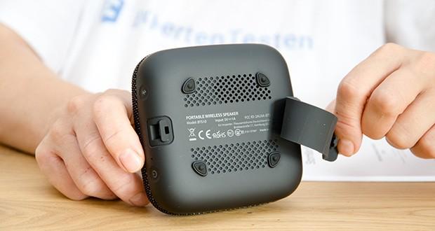 Tribit Stormbox Micro Bluetooth Lautsprecher im Test - ausgestattet mit einem reißfesten Gurt, können Sie ihn an fast jedem beliebigen Gegenstand befestigen und so Ihren Sound ganz entspannt überall hin mitnehmen