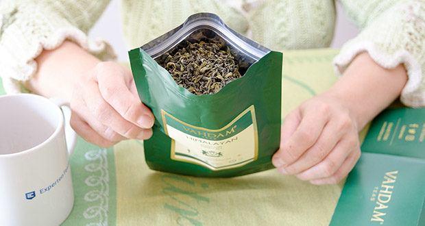 VAHDAM Grüne Teeblätter aus dem Himalaya im Test - ohne Nebenwirkungen und ohne Zusatz von Zutaten, Aromen