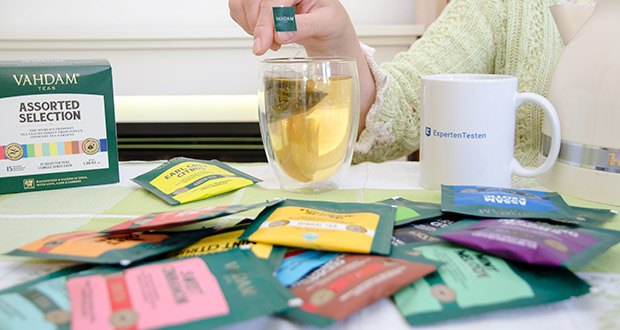 VAHDAM 15 Teesorten Probierset im Test - in diesem großartigen, sortierten Teebeutel-Sampler mit 15 köstlichen Angeboten ist für jeden etwas dabei