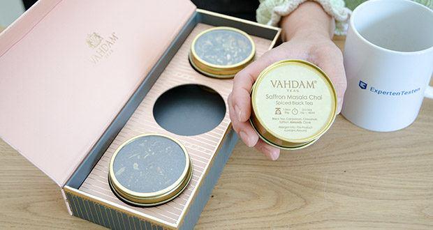 VAHDAM Sortiertes 3 Tee-Geschenkset im Test - genießen Sie den warmen und traditionellen Aromen speziellen Safran Masala Chai