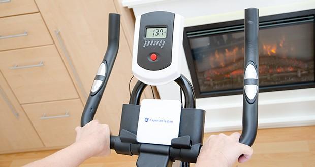 Bigzzia Profi-Heimtrainer mit LCD-Anzeige im Test - das LCD-Display kann Ihre Zeit, Geschwindigkeit, Distanz, Kalorien, Gesamtstrecke, Herzfrequenz und Scannen anzeigen und macht es Ihnen leicht, alle Trainingsdaten zu erhalten