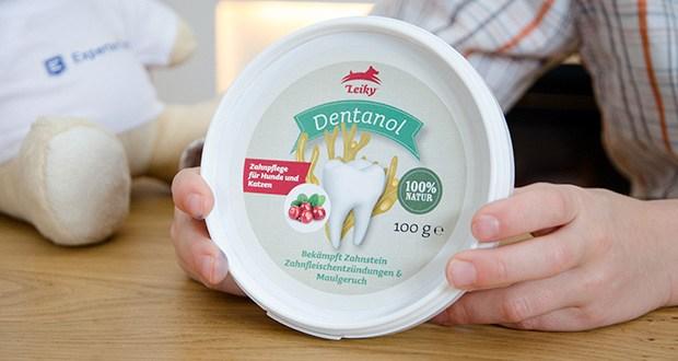 Leiky Dentanol Ergänzungsfutter im Test - Zahnpflege für Hunde und Katzen. Bekämpft Zahnstein, Zahnfleischentzündungen und Maulgeruch