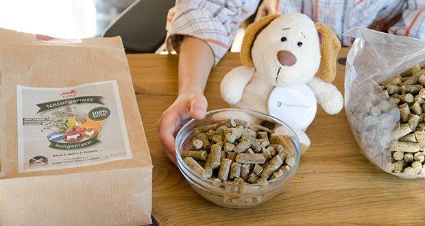 Leiky Naturgenuss kaltgepresst Hundefutter (Rind, Huhn, Forelle) im Test - artgerechte Hundevollkost mit drei hochwertigen Proteinquellen – schonend kaltgepresst