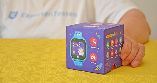 SoyMomo Space 4G Smartwatch im Test - Funktionen: GPS, Anrufe und Video Anrufe, (Sprach)Nachrichten, Standortverlauf, Blockierung Fremder, SOS-Taste, Taschenlampe, Schrittzähler, Belohnungen