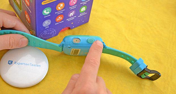 SoyMomo Space 4G Smartwatch im Test - wenn dein Kind die SOS-Taste der Smartwatch 5 Sekunden lang gedrückt hält, schickt die Uhr eine Benachrichtigung und ruft zudem automatisch das Handy der Eltern an